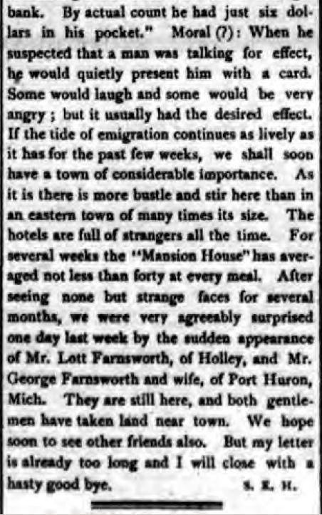 The Holley Standard, Holley, NY,  March 16, 1882 (www.fultonhistory.com)