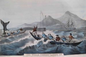 Whale Fishing, Currier & Ives, 1850s