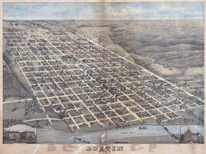Old map of Austin, 1873 (Wikimedia - Image in public domain)