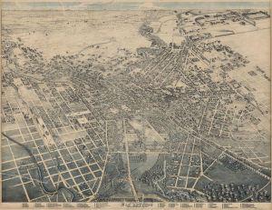 Lithograph - Map of San Antonio, Texas, 1886 (Wikimedia - Image in public domain)