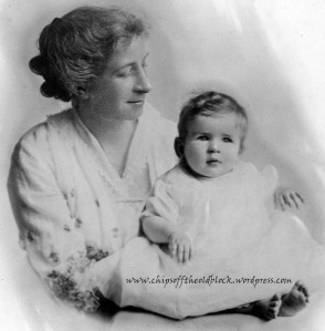 Image from my family's private archives of  Jennie Belle Woodruff Coleman with her daughter, 1914