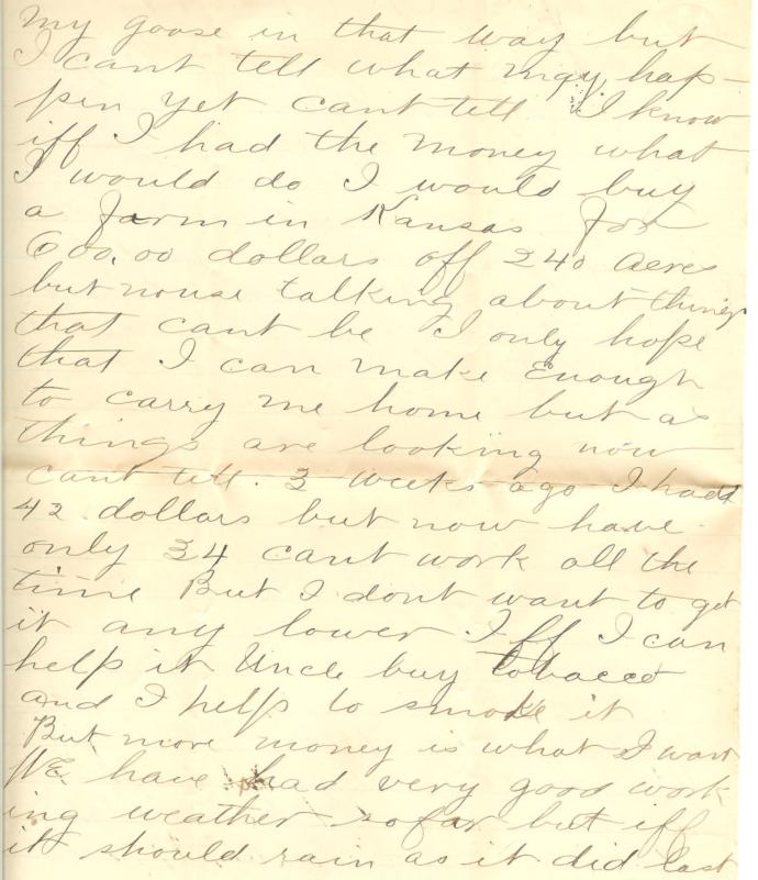 Job W. Angus Letter 01.19.1877, from my family's private collection of family papers