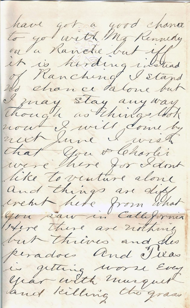 Job W. Angus Letter, 7 January 1877, from our family's personal collection (p. 2)