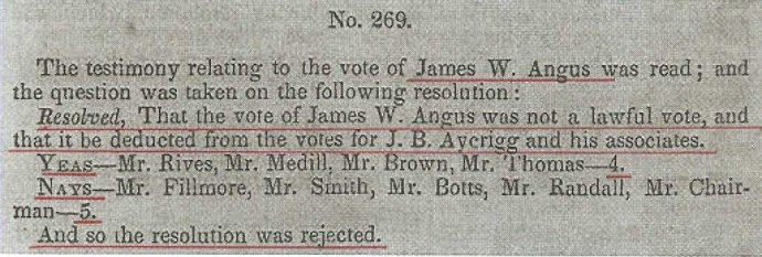 Testimony in the New Jersey Contested Election, May 26, 1840 (Publishes by US House of Representatives: 12 May 1840), p. 76.