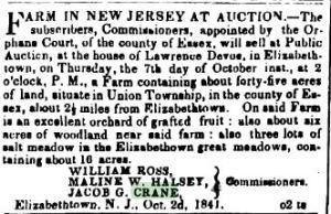 New-York American newspaper ad, October 2, 1841 (courtesy of www.fultonhistory.com)