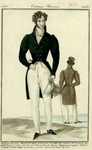Men's Fashion plate,1826. Image from University of Washington Library Digital Collections http://content.lib.washington.edu (Wikimedia Commons: In public domain in US due to expired copyright)