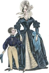 The World of Fashion, May 1838 (Wikimedia Commons - In Public Domain in US due to expired copyright)