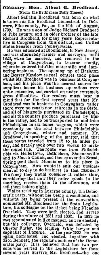 Honesdale PA Wayne County Herald, 29 July 1880
