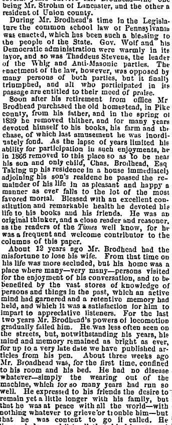 Honesdale PA Wayne County Herald, 29 July 1880