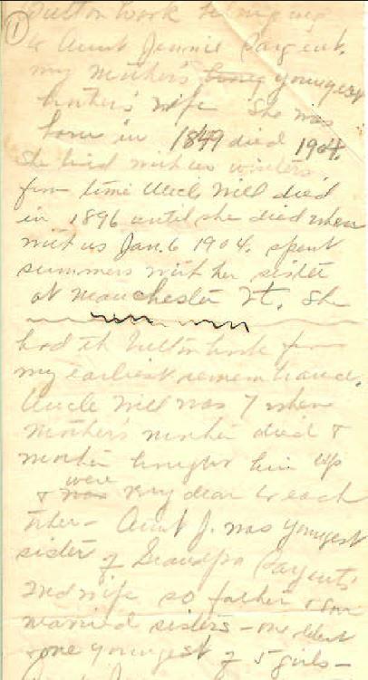 Zillah Trewin notes
