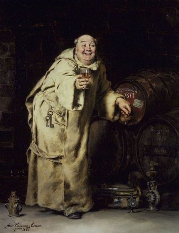 Antonio Casanova y Estorach's ''Monk Testing Wine'', 1886, oil on canvas; current location: Brooklyn Museum (Public domain per Wikimedia Commons)