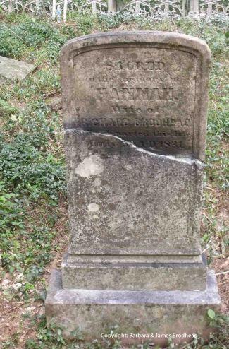 Hannah's repaired stone