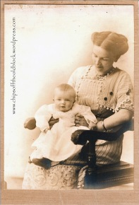 1912, Fannie with the first of her two sons