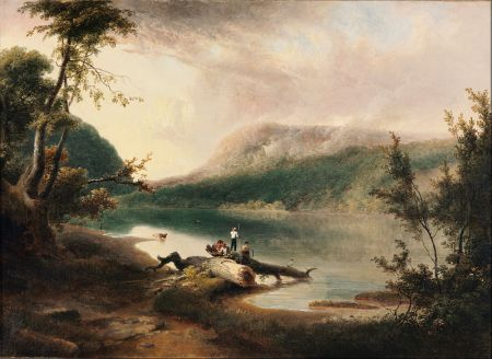 Thomas Doughty, American, Delaware Water Gap, 1827, oil on canvas, current location: Philadelphia Museum of Art