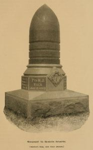 7th New Jersey Infantry Monument, Gettysburg Battlefield. Final Report of the Gettysburg Battle-Field Commission of New Jersey (Trenton, NJ: John L. Murphy Publishing Company, 1891), opp. p. 104. (Public domain due to expired copyright in the US)