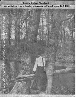 """""""Up at Salem Down Sunday afternoon with old beau"""" (bef. 1908)"""