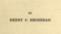 Bound in Shallows (1897) - dedication