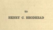 Bound in Shallows (1897) - dedication