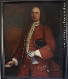 Photo of portrait of Capt. Daniel Brodhead (1693-1755), husband of Hester Wyngart, only child of Capt. Richard Brodhead & Magdalena Jansen, and grandson of Capt. Daniel Brodhead & Ann Tye Current location: Senate House, Kingston, NY; www.senatehousekingston.org