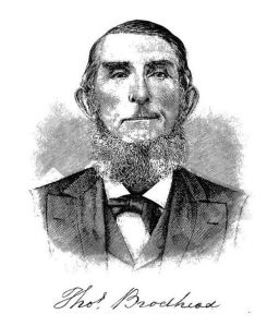 Thomas Brodhead - Image from p. 1104 of History of Wayne, Pike, and Monroe Counties by Alfred Mathews (Philadelphia: RT Peck, 1886)