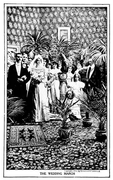 A wedding party from 1904 in Wilkes-Barre, Pa.