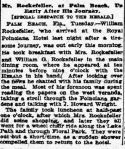 New York Herald 1913 describes Rockefeller visit (Credit: Fultonhistory.com)