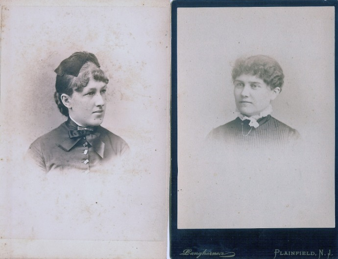 Left photo taken by McCormick & Heald, 22 Winter Street, Boston. Right photo taken by Langhorne Photographer, Plainfield, NJ (both undated)
