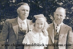 Left to right: John Boles, my mother, William Boles (Taken in July 1935)