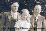 Left to right: John Boles, my mother, William Boles (Taken in July 1935)