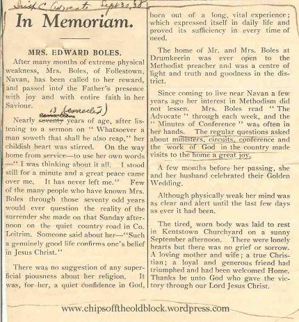 In Memoriam - September 1838