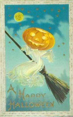 Halloween postcard, circa 1900-1910 (Contributed to Wikimedia Commons by Chordboard - public domain)