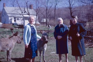 Jennie Boles with Louise and Jennie Nixon, spring 1964