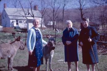 Jennie Boles with Louise and Jennie Nixon, spring 1964