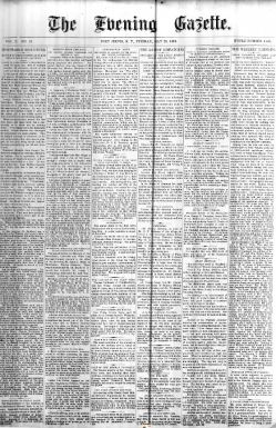 The Evening Gazette. 28 May 1878