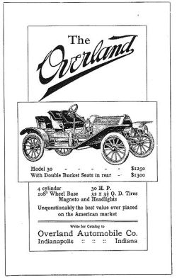 1909 U.S. print advertisement. Scanned from Early American Automobiles (out of print). Previously uploaded to en:Wikipedia by Richardj311 (Public domain in USA)