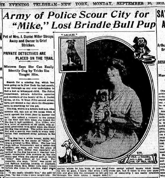 The Evening Telegram - New York, Monday, 15 September 1912 (Credit: Fulton History dot com)