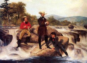 Trout Fishing by Junius Brutus Stearns (1810 – 1885)