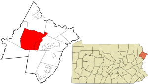 Map showing the location of this township within Pike County, Pennsylvania (Credit: Wikimedia Commons - contributed by Rcsprinter123 on Dec 6, 2014)