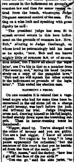 Adams NY, Jefferson County Journal, 20 Nov 1888 - part 1 (Credit: fultonhistory.com)