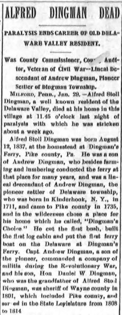 Port Jervis Evening Gazette, January 29, 1907