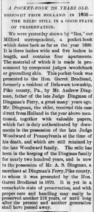 The Evening Gazette, Port Jervis, NY, April 29, 1876