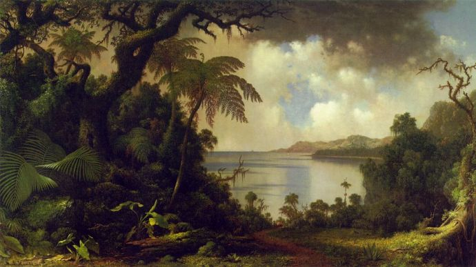 View from Fern Tree Walk Jamaica, ca. 1870, by Martin Johnson Heade