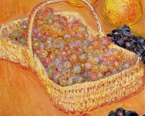 Basket of Graphes, Quinces and Pears - Claude Monet, 1882-1885