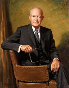President Dwight D. Eisenhower, official portrait, 1967 (Credit: Wikipedia)