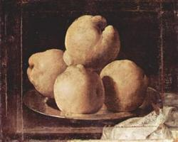 Still Life with Dish of Quince - Francisco de Zurbaran, 1633-1664