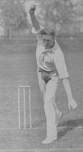Bart King of Philadelphia, 1897. King is considered to be America's best cricketer ever.