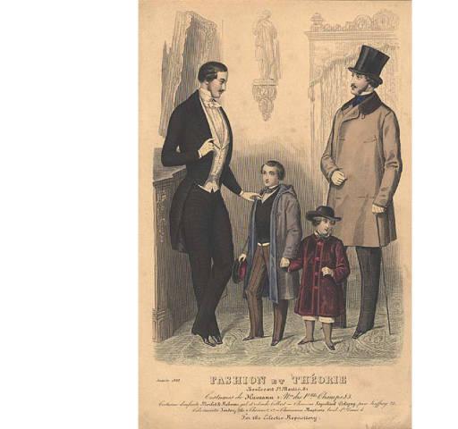 Men's and children's fashion, 1848