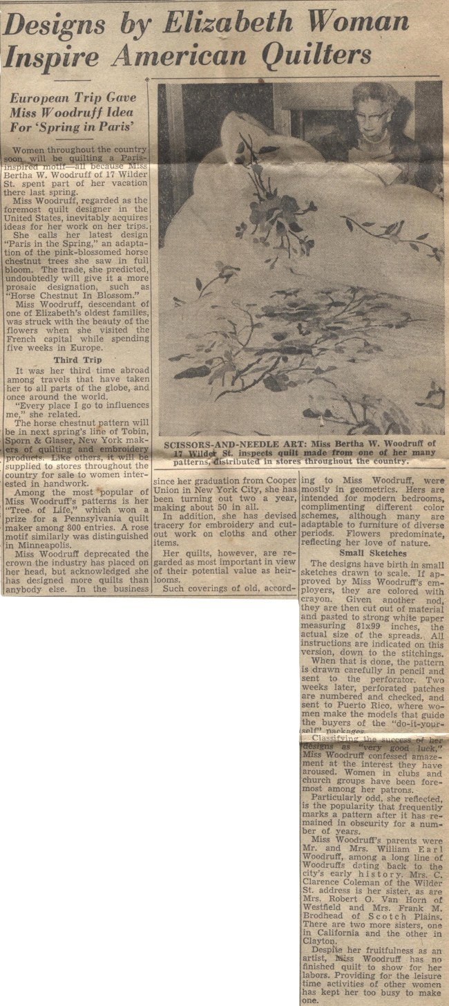 Elizabeth Daily Journal clipping, Tuesday evening, 2 August 1955