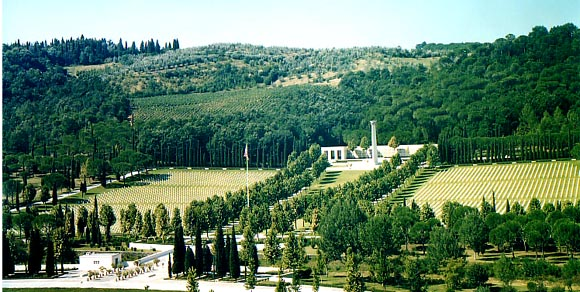 == Summary == The Florence American World War II Cemetery and Memorial site in Italy. From the [http://www.abmc.gov American Battle Monuments Commission (ABMC) web site] per their [http://www.abmc.gov/copyright.php copyright info]. [[Category:American Ba