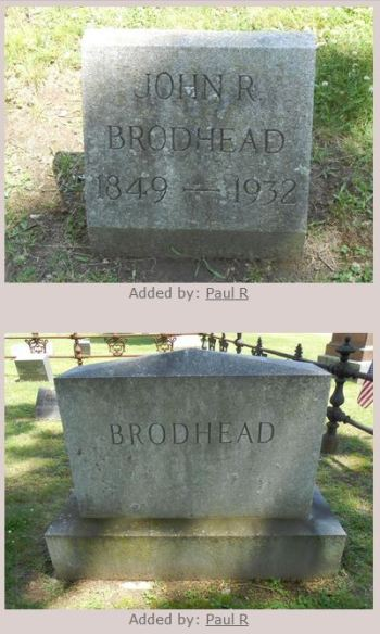 John Romeyn Brodhead grave - images by 'Paul R' - permission granted by way of crediting Paul R for his contributions -- thank you, Paul!)